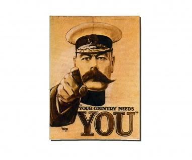 Poster Dein Land braucht Dich Marine Soldat Propaganda Fineart ab 30x22cm #30941
