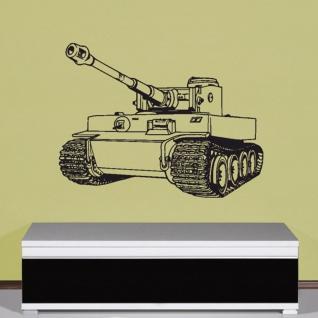 Tiger 1 E deutscher Panzer Panzerkampfwagen Fahrzeug Wandtattoo 67x51cm #5382