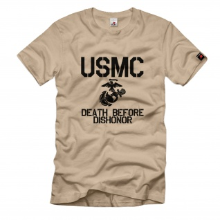 USMC Death before dishonor United States Marine Corps USA Us Army T-Shirt #700