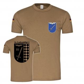 BW Tropen 14 Luftwaffenausbildungsregiment 2 Budel original Tropenshirt #25219