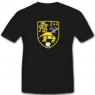 Pzbtl244 Panzerbataillon 244 Bundeswehr Heer Einheit Militär - T Shirt #3455