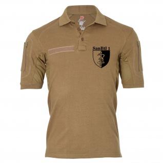 Tactical Poloshirt Alfa - Sanitätsbataillon 1 SanBtl Wappen BW Sanitäter #18969