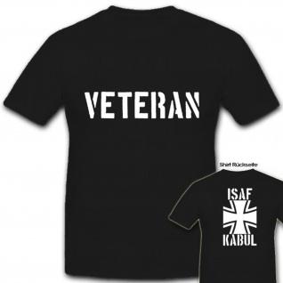 Copytec ISAF Veteran Kabul Bundeswehr Militär Abzeichen - T Shirt #5952