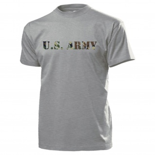 U.S. Army Amerika Schriftzug USMC America USA Military Uniform - T Shirt #14574