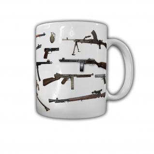 US Handwaffen 1939-1945 Tasse Kaffeebecher Waffen Army Militär #23038