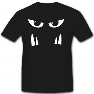 Bad Face Monster Gesicht Grusel Fun Spaß Humor - T Shirt #11530