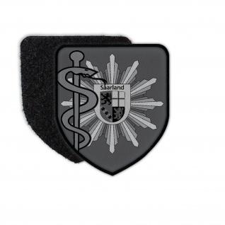 Patch Polizeiarzt Saarland Tarn Polizei Abzeichen Arzt Doktor Mediziner #36222