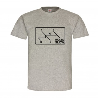 Fucking Slow Käfer Kübel Schaltung Symbol Tuning Auto Oldtimer T Shirt #18391