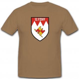 Panzer Division Militär Bundeswehr Wappen Abzeichen Emblem T Shirt #2270