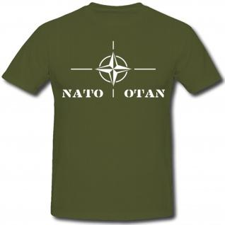 Nato Otan Bündnis Army Militär Isaf Abzeichen Wappen BW Militär - T-Shirt #1404