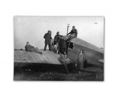 Poster Erstflug der JU F 13 Ganzmetallflugzeug ab 30x22cm #31055