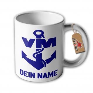 Tasse Volksmarine Dein Name Logo NVA DDR Nationale Volksarmee #33136