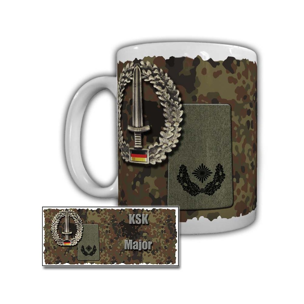 Tasse KSK Major Schulterabzeichen Rangabzeichen BW Dienstgrad #29747