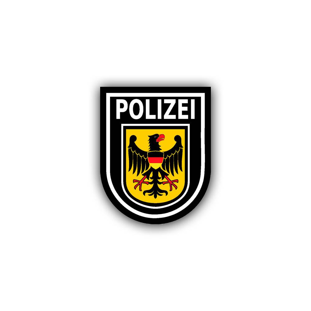 Aufkleber Polizeistern Polizeiabzeichen Bundespolizei BGS Polizei 7 cm