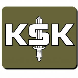 KSK Schriftzug mit Schwert Bundeswehr Deutschland Militär - Mauspad PC #9876