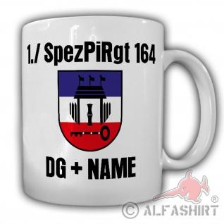 1 SpezPiRgt 164 mit NAME Spezialpionierregiment Dienstgrad Tasse #24731