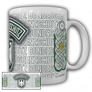 Tasse Oberstleutnant BGS Bundesgrenzschutz Wappen Abzeichen Andenken #23703