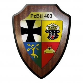 Wappenschild / Wandschild - PzBtl403 Panzerbataillon 403 Panzer Leopard #9618