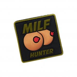 MILF Hunter 3D Rubber Patch Brüste Fun Spaß Männer Mom Boobs 6, 3x6, 3cm #18624