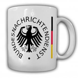 Tasse BND Bundesnachrichtendienst Nachrichten Wappen Abzeichen Logo #17096