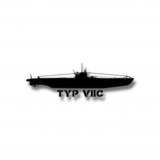 Aufkleber U-Boot Typ VIIC Marine im Atlantik U96 U552 30x9cm #A4721