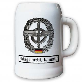Krug / Bierkrug 0, 5l - Barettabezeichen Nachschubtruppe NschTrp Logostik #10921