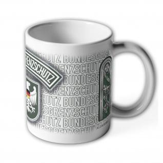 Tasse Regierungsobersekretär BGS Bundesgrenzschutz Wappen Abzeichen #23730