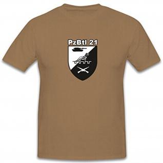 PzBtl 21 TYP2 Panzerbataillon Bundeswehr Wappen Abzeichen Emblem T Shirt #12211