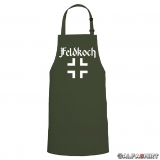 Feldkoch Balkenkreuz kochen grillen - Kochschürze / Grillschürze #6146