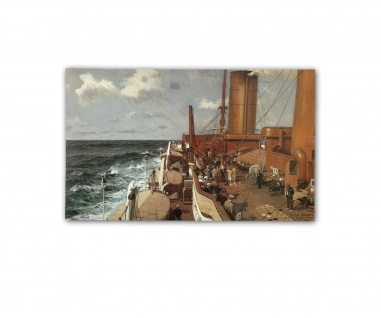 Poster An Bord der Columbus Claus Bergen Marine See Wellen ab 30x20cm #33145