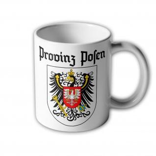 Tasse Provinz Posen Piastenadler Adler Wappen Abzeichen Heimat #3177