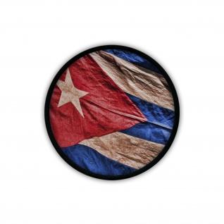 Patch / Aufnäher - Kuba Fahne Fidel Castro Havanna Revolution Flagge #19654