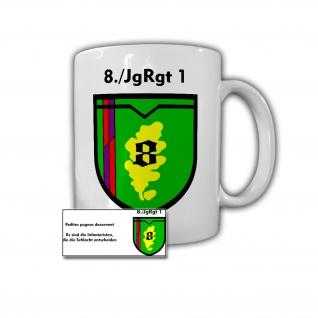 Tasse 8 Jägerregiment 1 Becher BW DZE Andenken Geschenk Bundeswehr JgRgt #30728