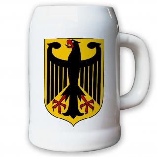 Krug / Bierkrug 0, 5l - Bundesadler Adler Wappen Fahne Flagge Deutschland #9416