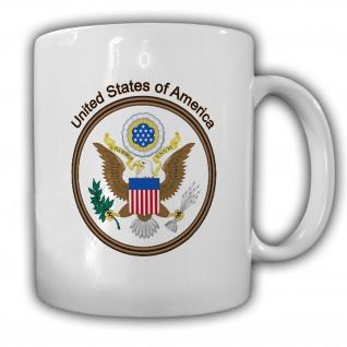 _Tasse Vereinigte Staaten von Amerika Wappen Emblem Kaffee Becher #14023