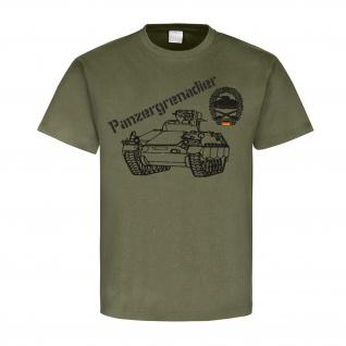 Technischer Zug 1Kp Pzgrenbtl 122 Bundeswehr Wappen Abzeichen - T Shirt #4135 - Vorschau 1