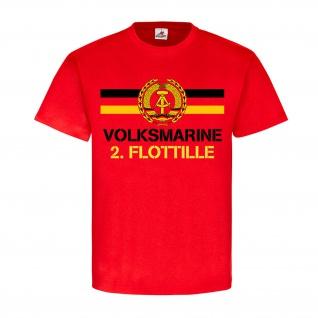 Volksmarine 2 Flottille NVA DDR Abzeichen Einheit Ostdeutschland T Shirt #18395