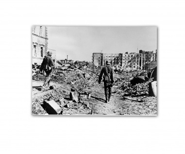 Poster Soldaten im Häuserkampf Trümmer Bomenangriff ab 30x22cm #31051