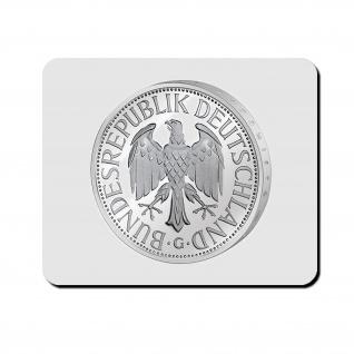 Deutsche Mark 1 Währung Euro BRD Müntze Geld - Mauspad Mousepad PC #10456 M