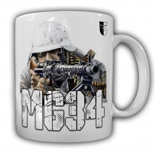 Tasse Lukas Wirp MG34 Schütze Gemälde Bild Kunst Militaria Gewehr #23416
