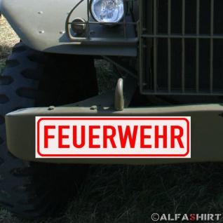 Magnetschild Feuerwehr für KFZ Fahrzeuge Kübel Iltis Wolf etc #A163