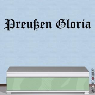 Preußen Gloria Heimat Prussia Wandtattoo 120x16cm #A201