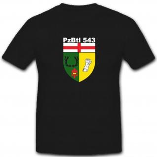 Kaserne Bundeswehr Wappen Abzeichen Emblem Pzbtl 543 543- T Shirt #4022