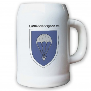 Krug / Bierkrug 0, 5l -Bierkrug Luftlandebrigade 25 Einheit Bundeswehr BW #12969