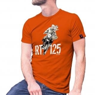 RT Forum 125 Motorrad Reichstyp Oldtimer Biker Internet Seite T Shirt #30030