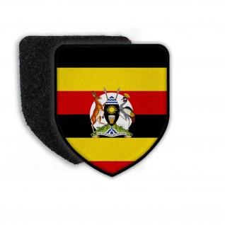 Patch Flagge von Uganda Kampala Republik Land Staat Wappen Flagge Fahne #21530