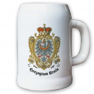 Krug / Bierkrug 0, 5l Herzogtum Krain Königreich Herzog Adler Stadtwappen #9464 K