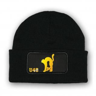 Mütze U-Boot 48 U48 3X schwarzer Kater Abzeichen Wappen Unterseeboot #10880