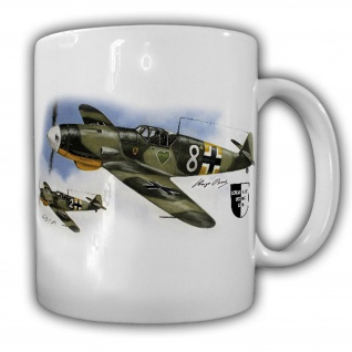 Tasse Lukas Wirp Me 109 Hugo Broch Luftwaffe Emil Ass Militaria Kunst #23637