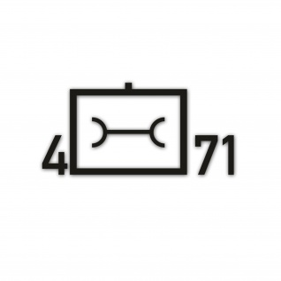 Taktisches Zeichen 4 Kompanie Instandsetzungsbataillon 71 16 x 8cm #A5616